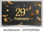 29th years anniversary design... | Shutterstock .eps vector #1447639463