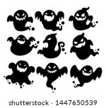 the shadow of many ghosts... | Shutterstock .eps vector #1447650539