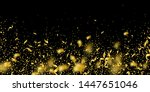 streamers and confetti. gold... | Shutterstock .eps vector #1447651046