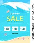 summer sale poster  web banner  ... | Shutterstock .eps vector #1447658993