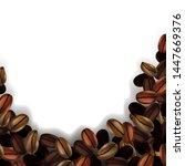 coffee beans on white... | Shutterstock .eps vector #1447669376