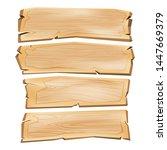 Cartoon Wooden Plank Signs ...