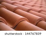 close up of roof tiles | Shutterstock . vector #144767839