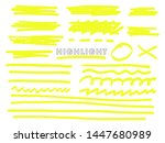 highlight. vector hand drawn... | Shutterstock .eps vector #1447680989
