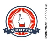 best hand gesture retro label | Shutterstock .eps vector #144770110