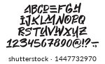 hand drawn typeface on white... | Shutterstock .eps vector #1447732970