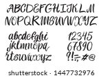 hand drawn typeface on white... | Shutterstock .eps vector #1447732976
