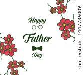 vector illustration card happy... | Shutterstock .eps vector #1447736009