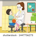 an elementary school student... | Shutterstock .eps vector #1447736273
