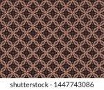 christmas knitted fleece... | Shutterstock . vector #1447743086