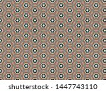 tracery background with flowers ... | Shutterstock . vector #1447743110