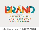 vector of stylized modern font... | Shutterstock .eps vector #1447756340