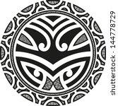 traditional maori taniwha... | Shutterstock .eps vector #144778729