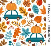 vector seamless pattern with... | Shutterstock .eps vector #1447790516