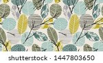 abstract autumn seamless... | Shutterstock .eps vector #1447803650