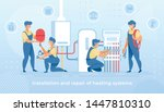 group of masters make... | Shutterstock .eps vector #1447810310