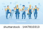 group of construction engineers ... | Shutterstock .eps vector #1447810313