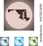 vector map of the maryland   Shutterstock .eps vector #1447811690