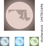 vector map of the maryland   Shutterstock .eps vector #1447811696