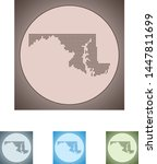 vector map of the maryland   Shutterstock .eps vector #1447811699