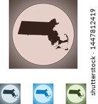 vector map of the massachusetts | Shutterstock .eps vector #1447812419