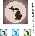 vector map of the michigan | Shutterstock .eps vector #1447812776