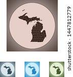vector map of the michigan | Shutterstock .eps vector #1447812779