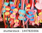 colorful headband hair... | Shutterstock . vector #1447820306