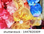 colorful headband hair... | Shutterstock . vector #1447820309
