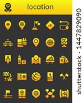 location icon set. 26 filled... | Shutterstock .eps vector #1447829090