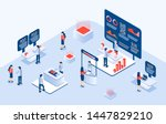 industrial or expo center with...   Shutterstock .eps vector #1447829210