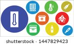 freeze icon set. 9 filled...   Shutterstock .eps vector #1447829423