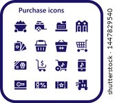 purchase icon set. 16 filled... | Shutterstock .eps vector #1447829540