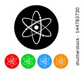 atomic symbol icon with color... | Shutterstock .eps vector #144783730