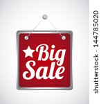 big sale label over gray... | Shutterstock .eps vector #144785020