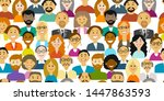 group of people  background for ... | Shutterstock .eps vector #1447863593