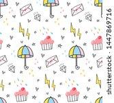 cute abstract seamless... | Shutterstock .eps vector #1447869716