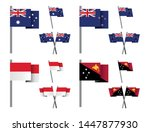 set of national pole flag icons ...   Shutterstock .eps vector #1447877930