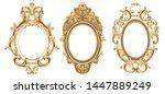 vintage frames set vector... | Shutterstock .eps vector #1447889249