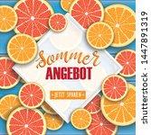 german text sommer angebot ... | Shutterstock .eps vector #1447891319