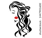 beautiful sexy woman face  red... | Shutterstock .eps vector #1447901600