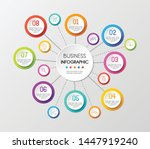 circle infographic template... | Shutterstock .eps vector #1447919240