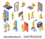 home repair isometric set with... | Shutterstock .eps vector #1447942010