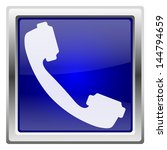 metallic shiny icon with white... | Shutterstock . vector #144794659