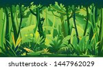 wild jungle forest with trees ... | Shutterstock .eps vector #1447962029