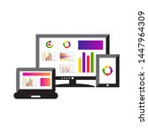 flat design concept of computer ... | Shutterstock .eps vector #1447964309