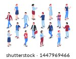 flat business people icons... | Shutterstock .eps vector #1447969466