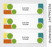collection of abstract banners. ...