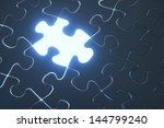 blue contact puzzle | Shutterstock . vector #144799240