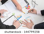 human hands holding pens and...   Shutterstock . vector #144799258